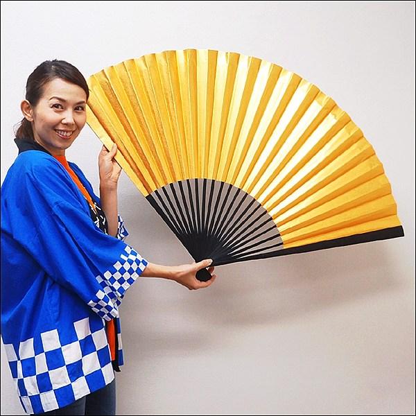 イベントグッズ/お正月装飾用品/110cm装飾用大扇子(金色L)