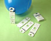 イベントグッズ/風船/ハート型風船ヘリウムガス用C(100ヶ) 糸付きボール紙どうぶつクリップ