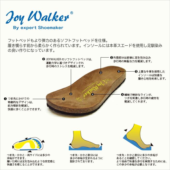 joy walker ジョイウォーカー ビルケン風 Arizona アリゾナスタイル
