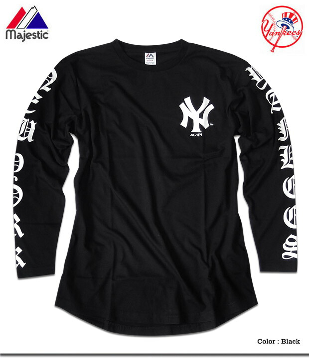 EVERSOUL PLUS  New York Yankees T-shirt men Ron T sleeve print long ... 7070976437dd