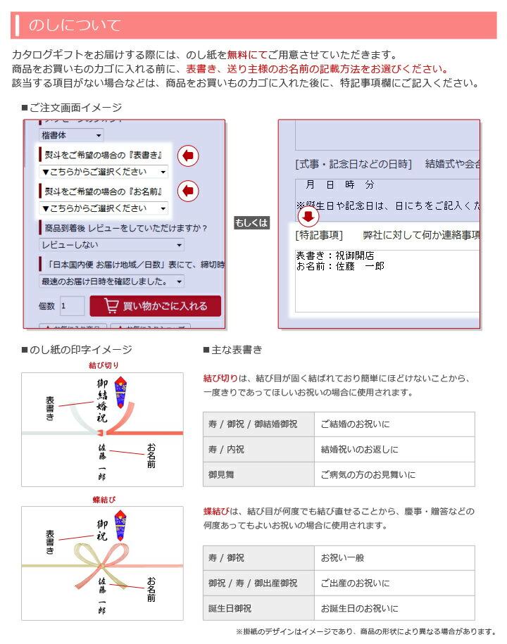 カタログギフト電報の熨斗(のし)について