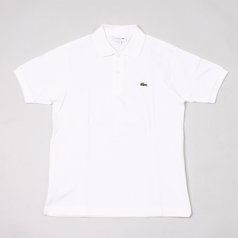 FRANCE LACOSTE (フランスラコステ)  S/S PIQUE POLO - WHITE BLANC 001
