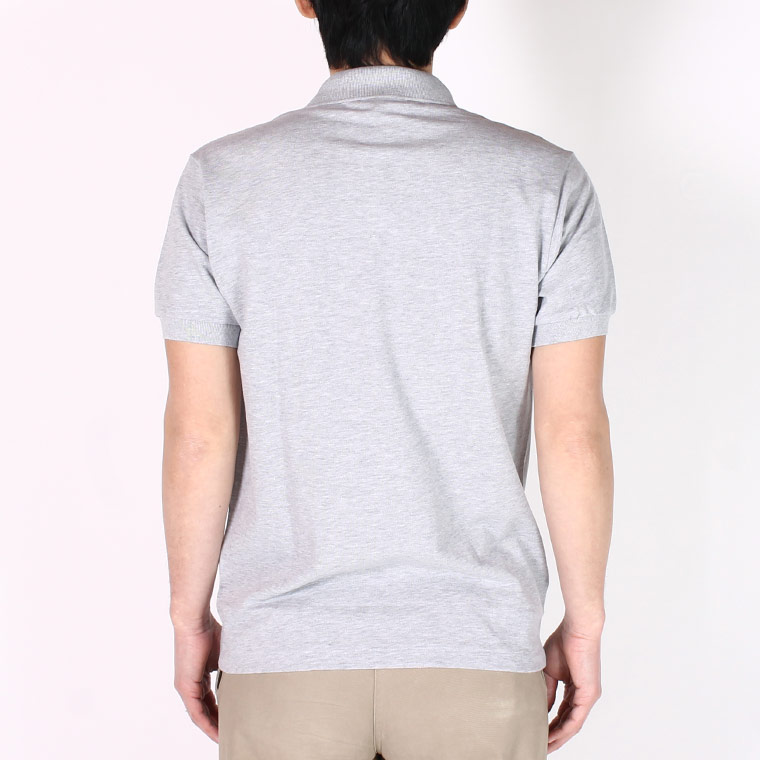 FRANCE LACOSTE (フランスラコステ)  S/S HEATHER PIQUE POLO - ARGENT CHINE SILVER CCA