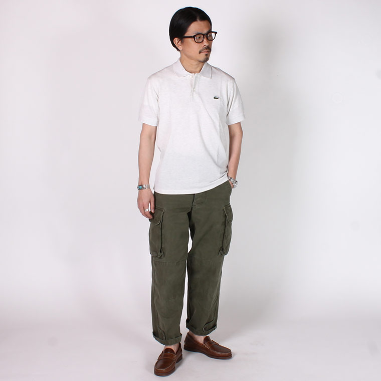 FRANCE LACOSTE (フランスラコステ)  S/S HEATHER PIQUE POLO - ALPES CHINE_HT1