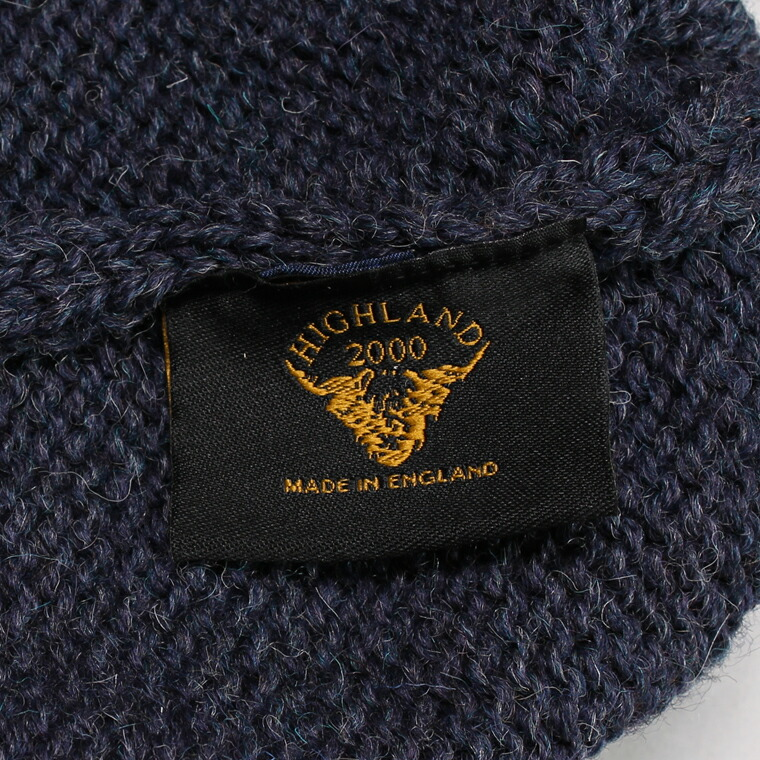 HIGHLAND 2000 (ハイランド2000)  SB BOB CAP RIB T/UP BRITISH WOOL - DENIM