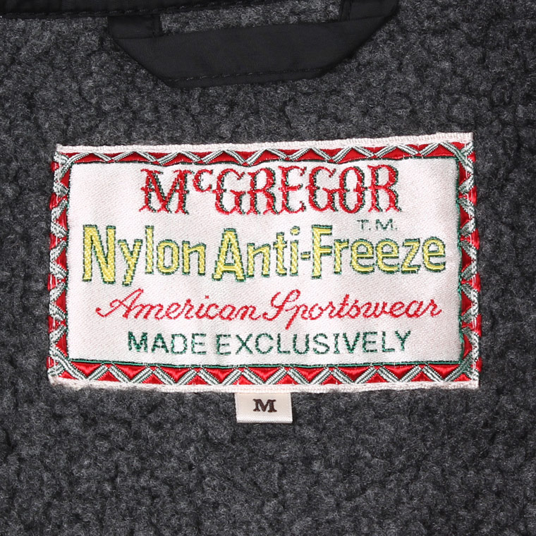 McGREGOR (マックレガー)  NYLON ANTI FREEZE JACKET - BLACK