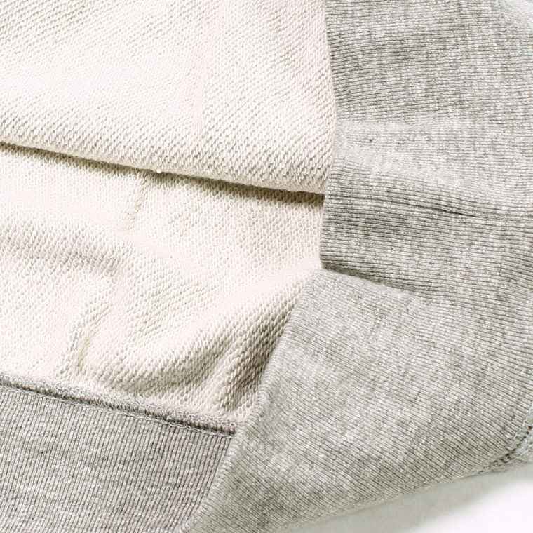 FELCO (フェルコ)  L/S INVERSE WEAVE V GUSSET SWEAT 12oz LT WEIGHT FRENCH TERRY - HEATHER GREY