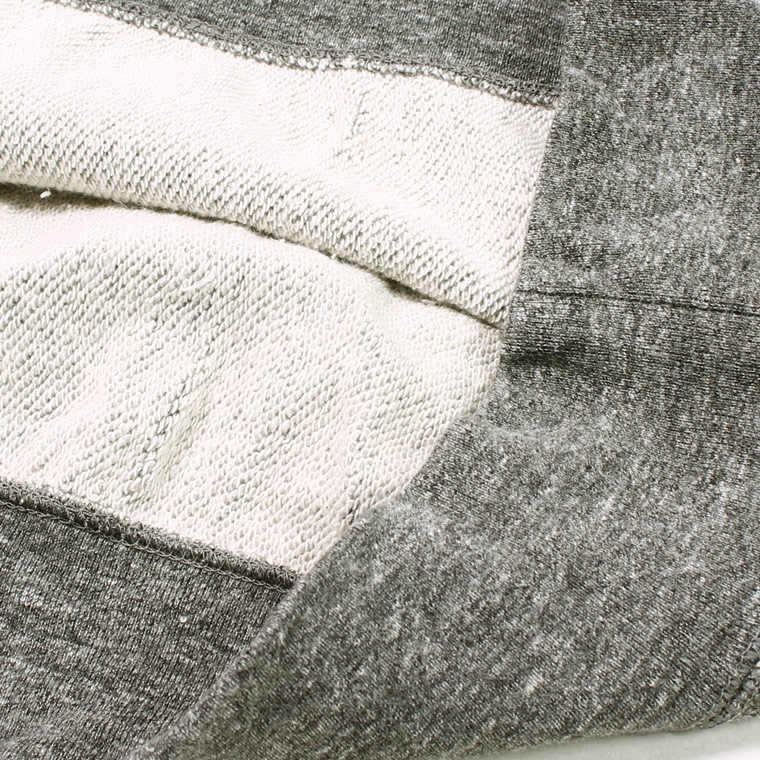 FELCO (フェルコ)  L/S INVERSE WEAVE V GUSSET SWEAT 12oz LT WEIGHT FRENCH TERRY - HEATHER CHARCOAL