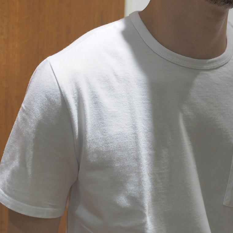 FELCO (フェルコ)  S/S CREW NECK POCKET T SHIRT / WHITE