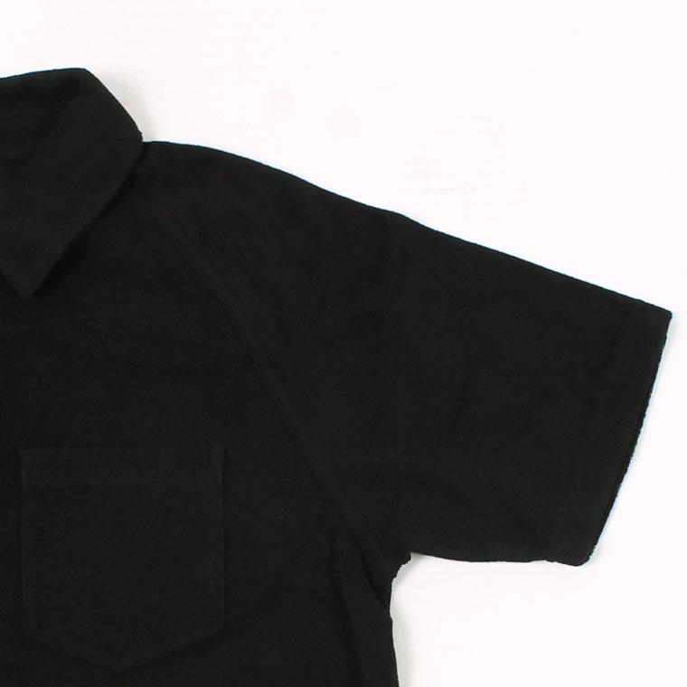 FELCO (フェルコ)  S/S PILE POLO SHIRT - BLACK