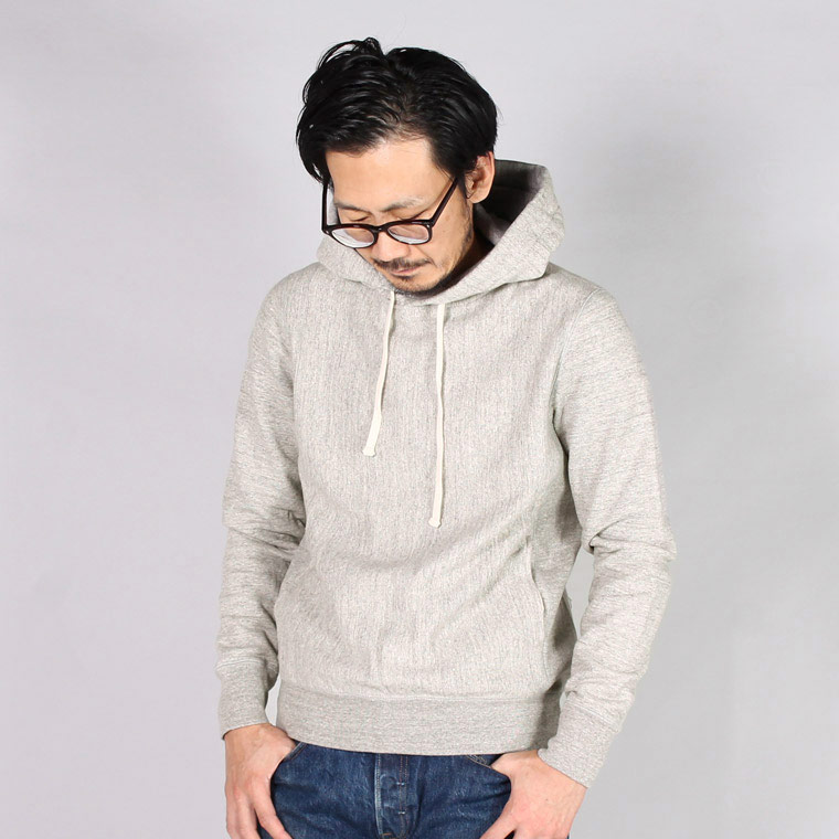 FELCO (フェルコ)  16oz NEW HEAVY WEIGHT TERRY INVERSE WEAVE  SWEAT HOODED PULLOVER - GREY HEATHER