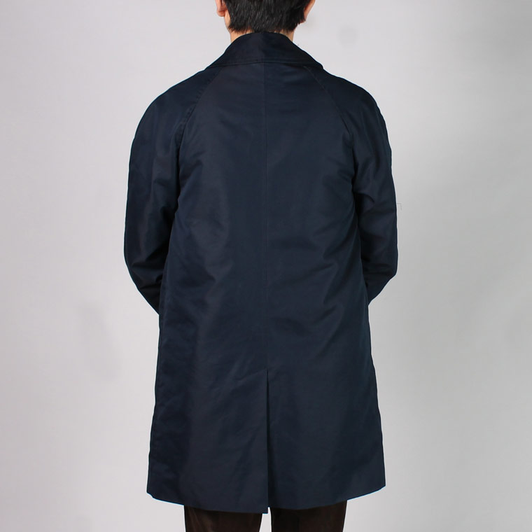 FTRAFALGAR SHIELD (トラファルガーシールド)  T-17 RAGLAN SLEEVE BAL COLLAR COAT 60/2 WATER REPELLENT w/DETACHABLE ZIP LINING - NAVY