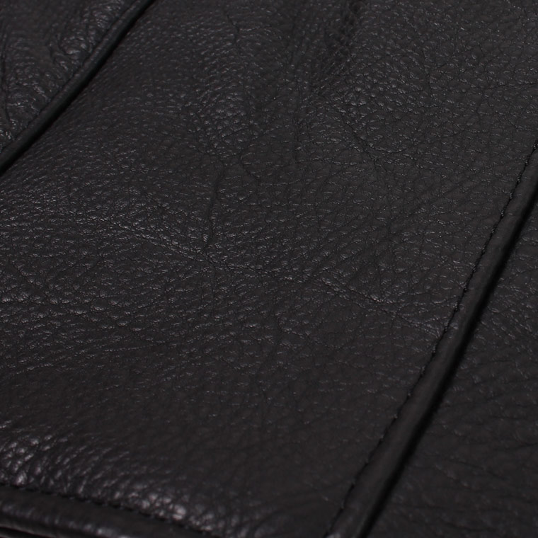 VANSON (バンソン)  C2-SLIM FITTED SOFT COW LEATHER - BLACK