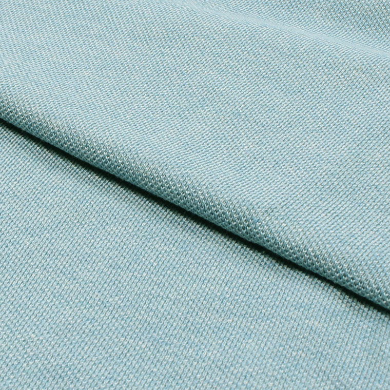 FRANCE LACOSTE (フランスラコステ)  S/S HEATHER PIQUE POLO - DRW_BLUE CHINE-DRW_BLUE CHINE