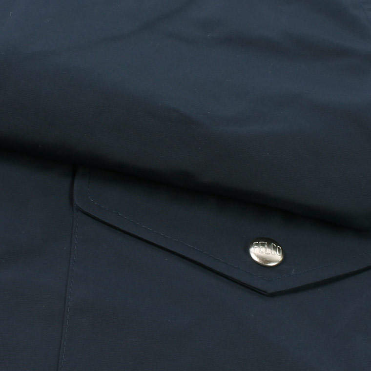FELCO (フェルコ)  COACH JACKET SNAP BUTTON WATER PROOF NYLON - NAVY