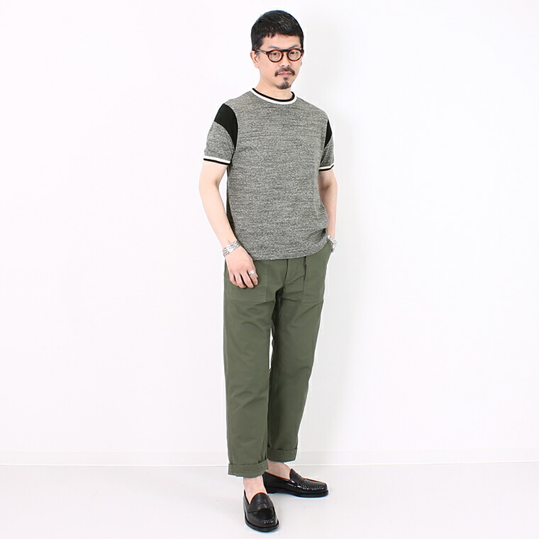 FELCO (フェルコ)  DOUBLE RINGER OLD BASKET BALL T 19SINGLE RUFFI JERSEY - CHARCOAL_BLACK