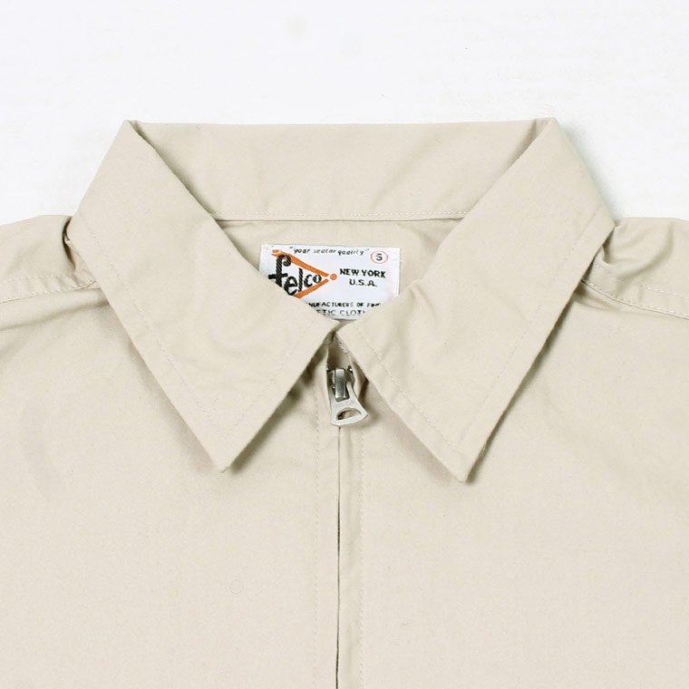 FELCO (フェルコ)  COTTON SPORTS PRINTED JACKET VENTILE GEAR HIGH DENSITY OX WATER REPELLENT - BEIGE_NY CIRCLE WATER PRINT