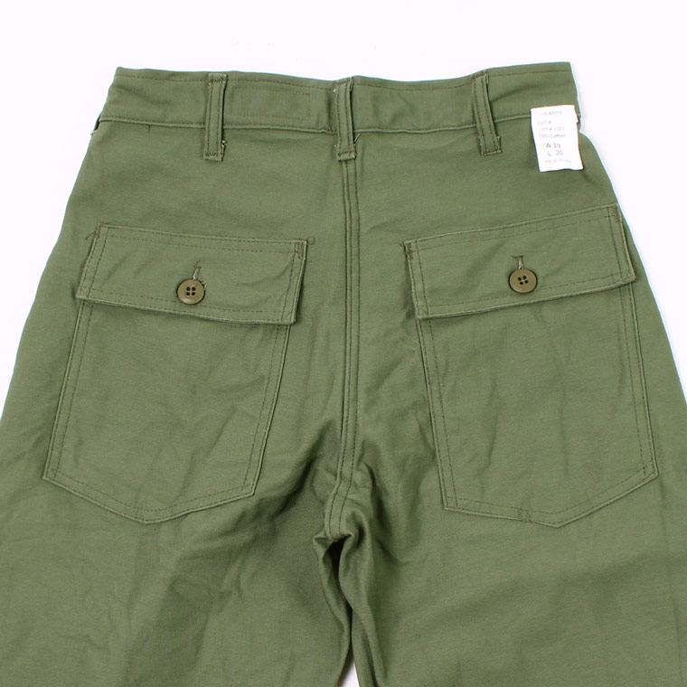 EMPIRE & SONS (エンパイア アンド サンズ)  MADE IN USA FATIGUE PANT SLIM FIT SATEEN - OLIVE DRAB