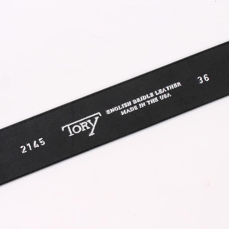 TORY LEATHER (トリーレザー)  1.25 INCH STRAP BELT - BLACK_NICKEL