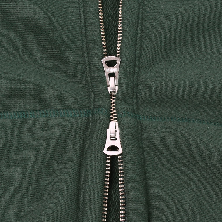 FELCO (フェルコ)  16oz NEW HEAVY WEIGHT TERRY INVERSE WEAVE SWEAT HIGH NECK FULL ZIP PARKA - DK GREEN