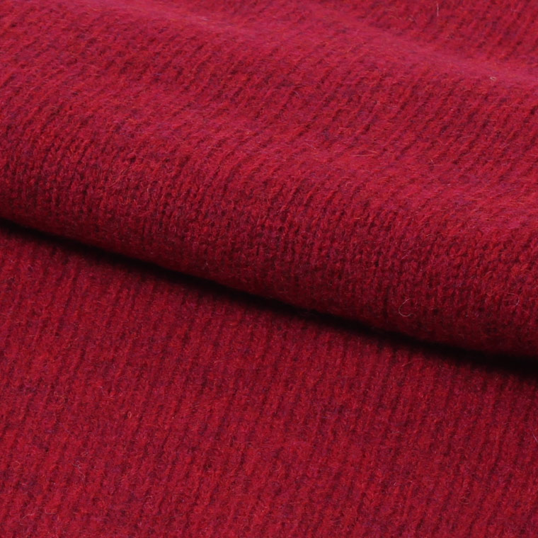 HARLEY OF SCOTLAND (ハーレーオブスコットランド)  PURE NEW WOOL SADDLE SHOULDER CREW NECK SWEATER - RED HOT