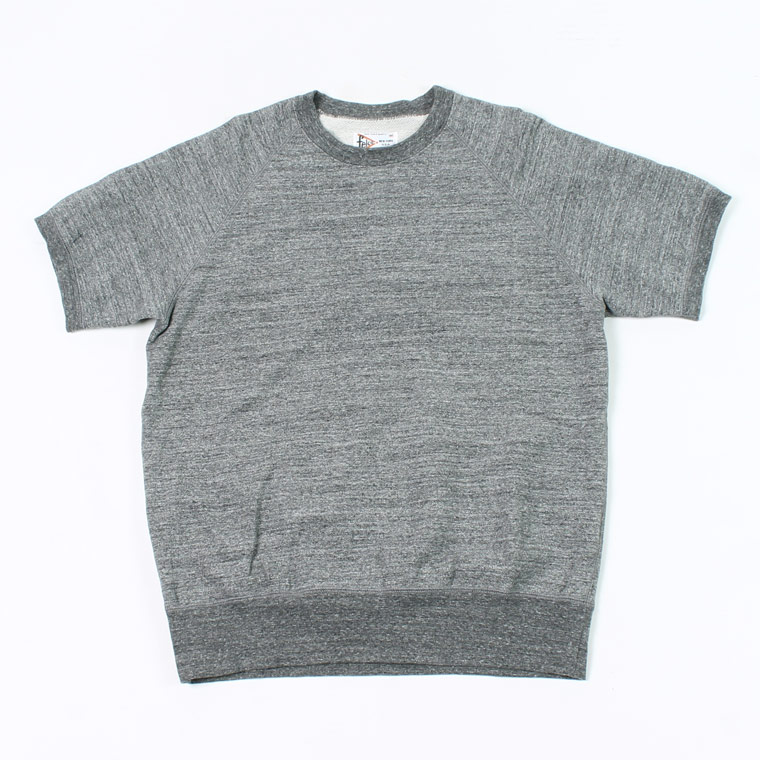 FELCO (フェルコ)  S/S RAGLAN SWEAT LT WEIGHT FRENCH TERRY - HEATHER CHARCOAL