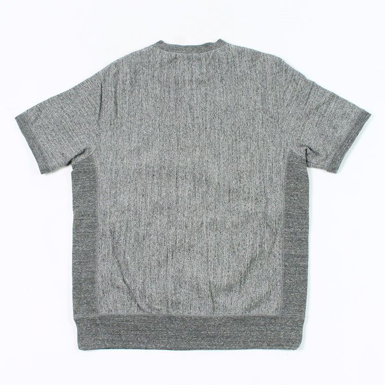 FELCO (フェルコ)  S/S INVERSE WEAVE SWEAT 12oz LT WEIGHT FRENCH TERRY - HEATHER CHARCOAL