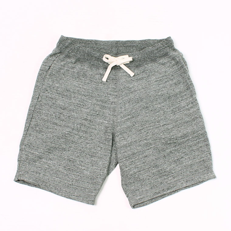 FELCO (フェルコ)  SWEAT GYM SHORT 12oz LT WEIGHT FRENCH TERRY - HEATHER CHARCOAL