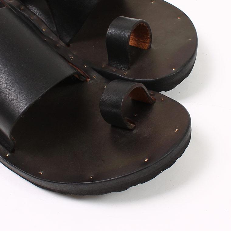 JUTTA NEUMANN (ユッタニューマン)  GRETA ROUND W/BIRKEN SOLE - BLACK LATIGO