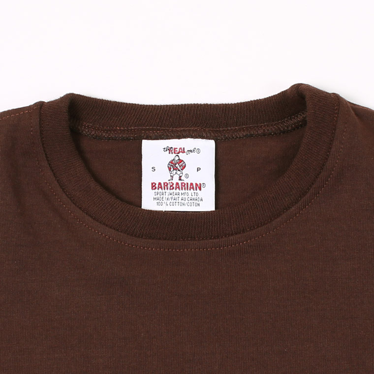 BARBARIAN (バーバリアン)  EXCLUSIVE L/S CREW NECK SOLID - BROWN