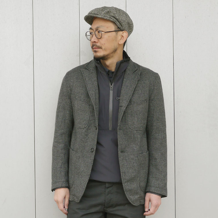 FELCO (フェルコ)  PUFFBALL PULLOVER VEST STRETCH NYLON - CHARCOAL
