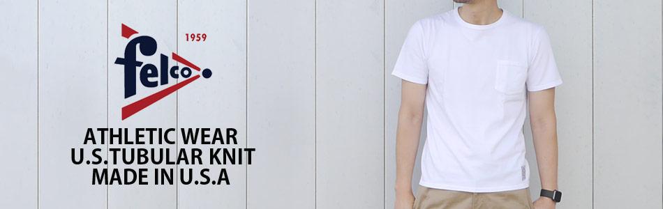 FELCO フェルコ 無地 ポケット白Tシャツ,名古屋 メンズファッション セレクトショップ Explorer エクスプローラー,通販 通信販売