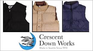 CRESCENT DOWN WORKS クレセントダウンワークス ダウンベスト ダウンジャケット,メンズファッション 2017秋冬新作 2017FW,通販 通信販売