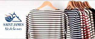 SAINTJAMES セントジェームス,レディース バスクシャツ ボーダーカットソー フランス製,通販 通信販売