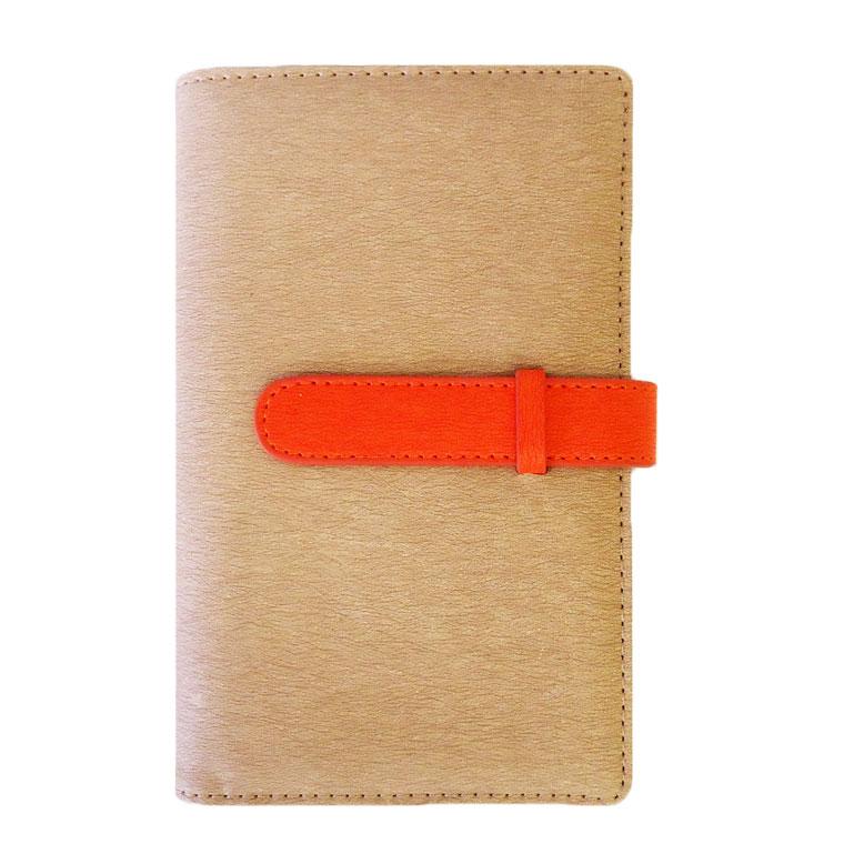 exrevoの小物/パスケース・定期入れ・カードケース|ベージュ×オレンジ