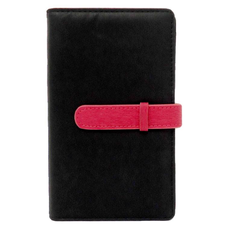 exrevoの小物/パスケース・定期入れ・カードケース|ブラック×ピンク