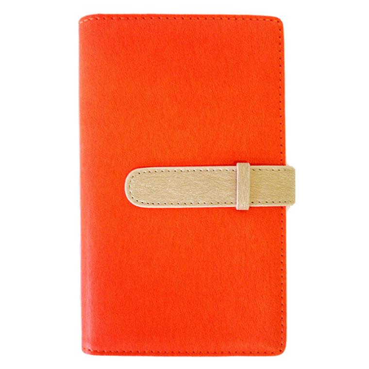 exrevoの小物/パスケース・定期入れ・カードケース|オレンジ×ベージュ