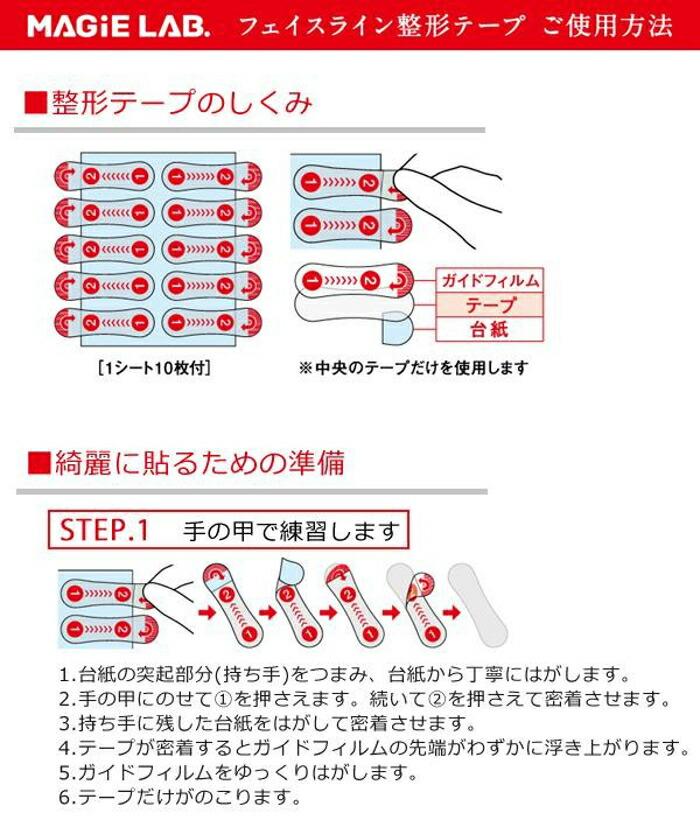 MAGiELAB.,マジラボ,フェイスライン整形テープ,たるみ補正,エイジングケア,日本製