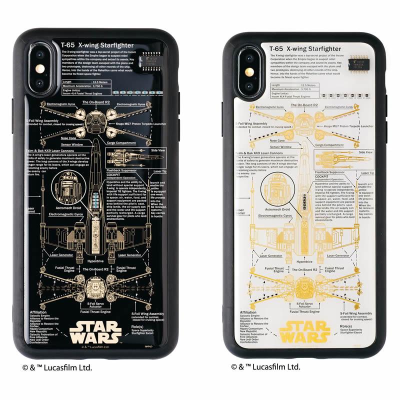 STAR WARS FLASH X-WING 基板アート iPhone XS Maxケース