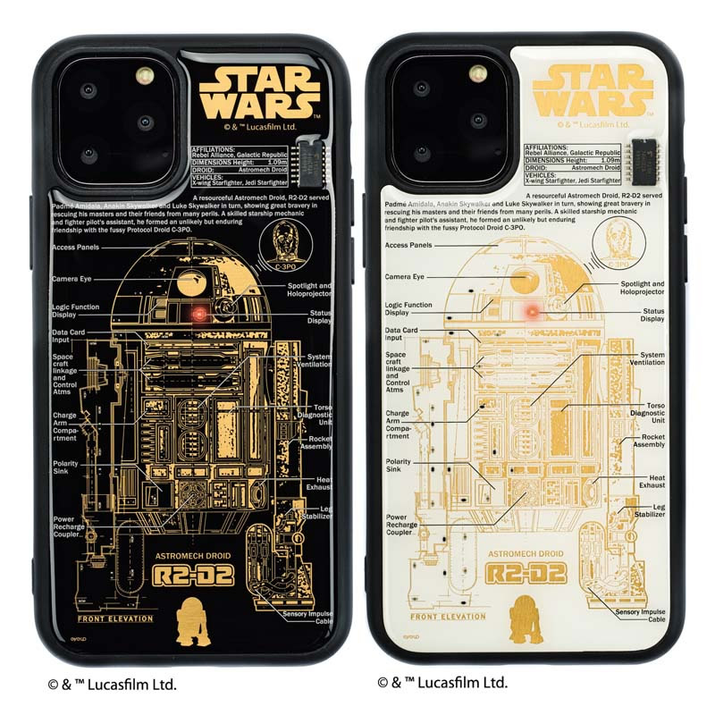 STAR WARS FLASH R2-D2 基板アート iPhone11Proケース