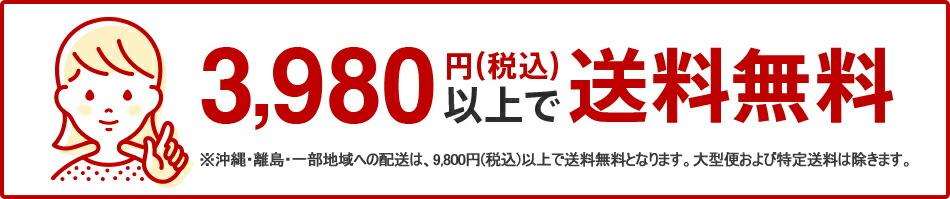 お買い上げ金額3,980円(税込み)以上で送料無料!
