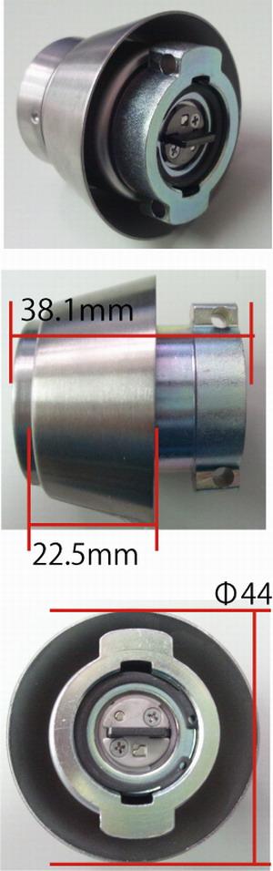 PR LAシリンダー(扉厚33~42mm)