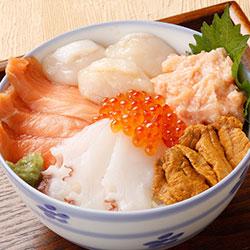 北海道 厳選 6種 海鮮丼 セット <雲丹入り> 300g前後 2人前