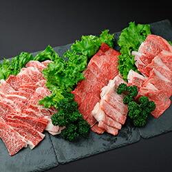ボリューム満点!うらほろ和牛(黒毛和牛)焼肉セット1,000g(肩+バラ+モモ肉)