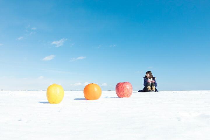 氷平線トリック写真