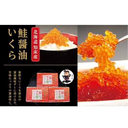 北海道羅臼町 【ふるさと納税】さけ醤油いくら 360g(120g×3パック)