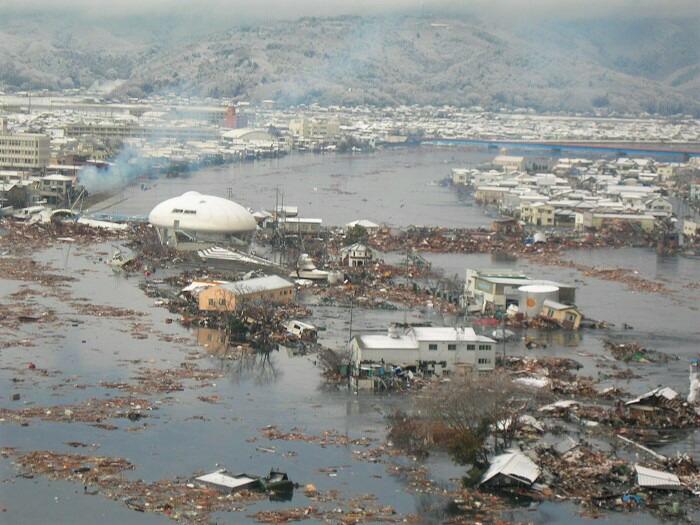 震災当時の石巻市