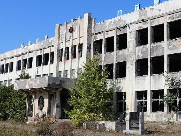 震災遺構「門脇小学校」