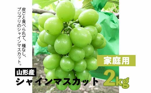 【ふるさと納税】FY20-580 【家庭用】シャインマスカット2kg(3房~6房)
