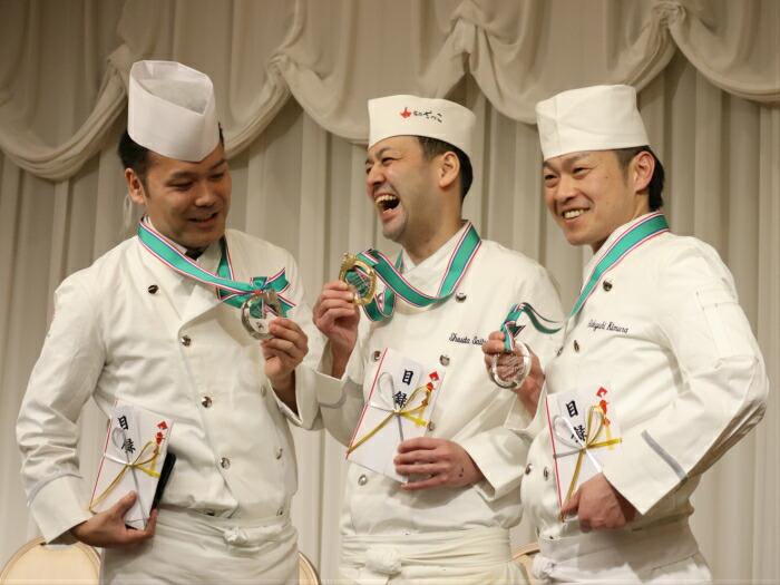 料理人コンペティション大会授賞式の様子